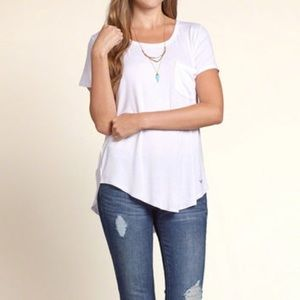 Hollister | White Must-Have Easy Pocket Tee